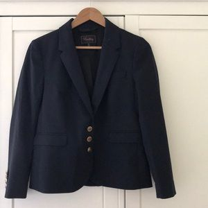 Madewell Buckley Tailors Navy wool Boy Blazer, s4